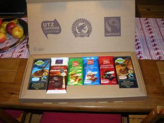 Auch bei Lidl gibt es inzwischen Schokolade mit dem Trans-Fair Siegel