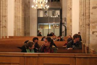 Smalltalk auf den Kirchenbänken