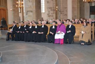 Der Dom war vollbesetzt - neben vielen Pfarrerinnen und Pfarrer saß u.a. auch Wesels Bürgermeisterin Ulrike Westkamp.