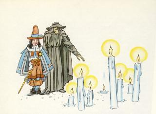 "Illustration des Märchens ""Der Gevatter Tod"""